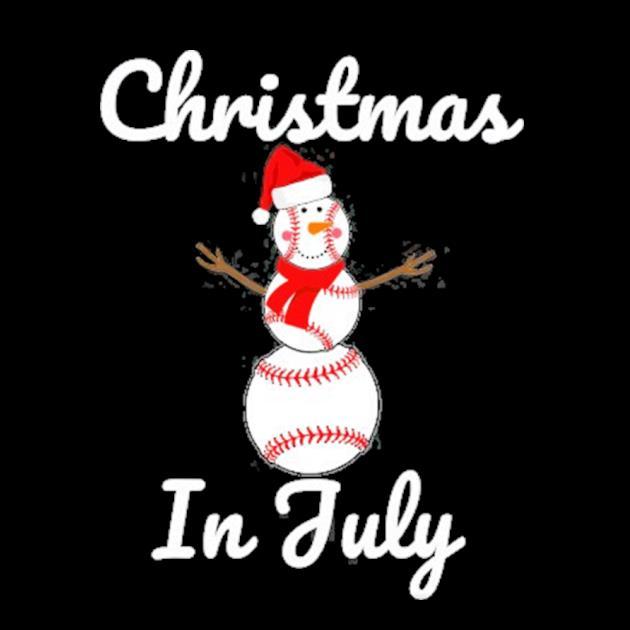Christmas in july baseball snowman santa hat summer 2021 preview