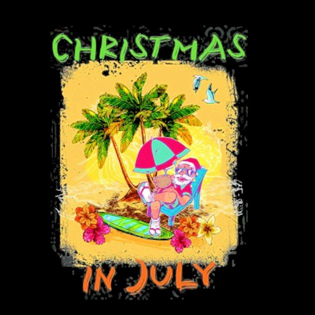 Christmas in july funny santa summer beach vacation preview