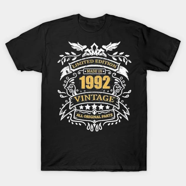 Limited edition 29th birthday gift idea vintage 1992 ver2 shirt