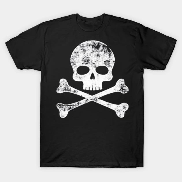 Skull crossbones skeleton jolly roger shirt